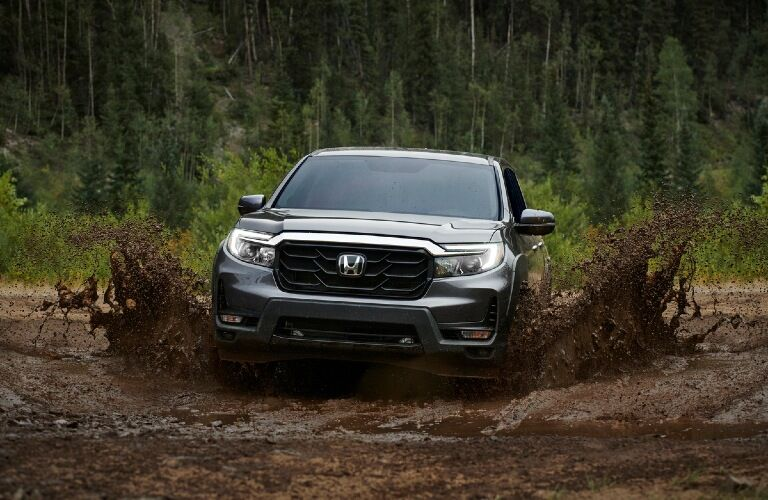 2021 Ridgeline driving through mud