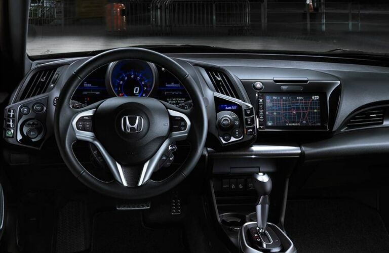 Steering wheel and infotainment system of the 2016 Honda CR-Z