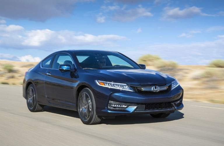 2017 Honda Accord Coupe driving on desert highway