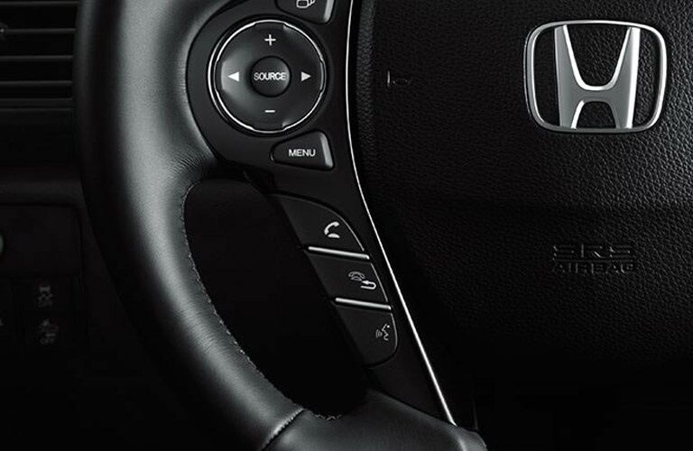 Steering wheel in the 2017 Honda Accord