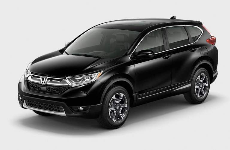 Front view of a black 2017 Honda CR-V