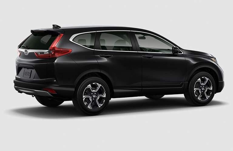 Side view of a black 2017 Honda CR-V