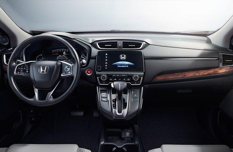 Steering wheel and dashboard of 2017 Honda CR-V
