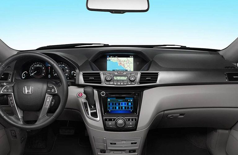 Dashboard and infotainment system in 2017 Honda Odyssey