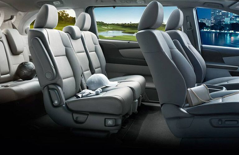 Seating arrangement in the 2017 Honda Odyssey