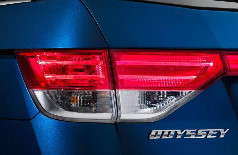 taillights of 2017 Honda Odyssey