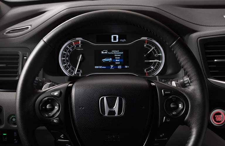 steering wheel of the 2017 Honda Pilot