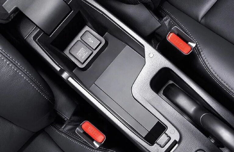 2020 Honda Fit charging ports and center storage