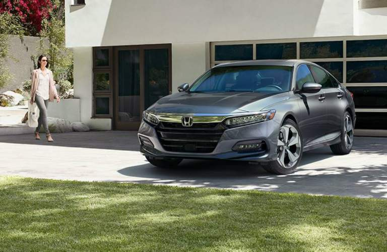 gray 2018 Honda Accord parked in driveway