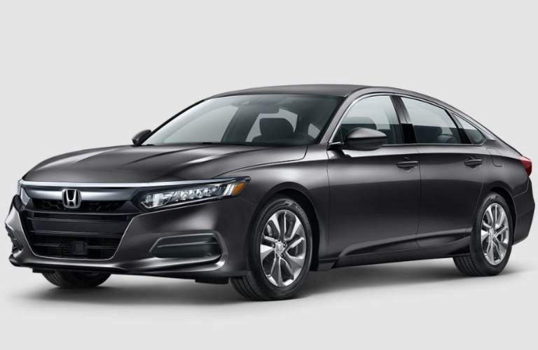 front view of a dark grey 2018 Honda Accord