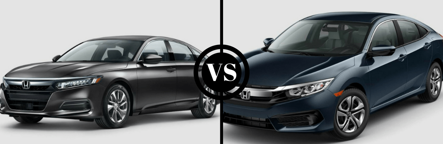 2018 Honda Accord and 2018 Honda Civic side by side