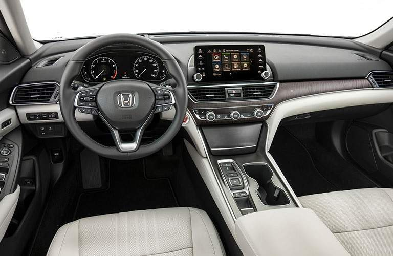 steering wheel and infotainment system of 2018 Honda Accord