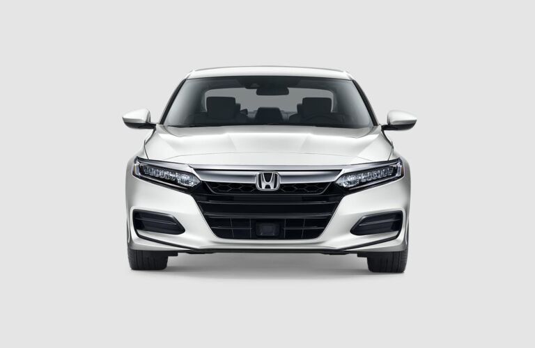 Front view of a white 2019 Honda Accord