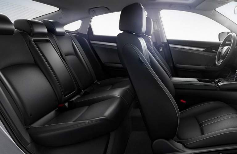 Interior seats in the 2018 Honda Civic