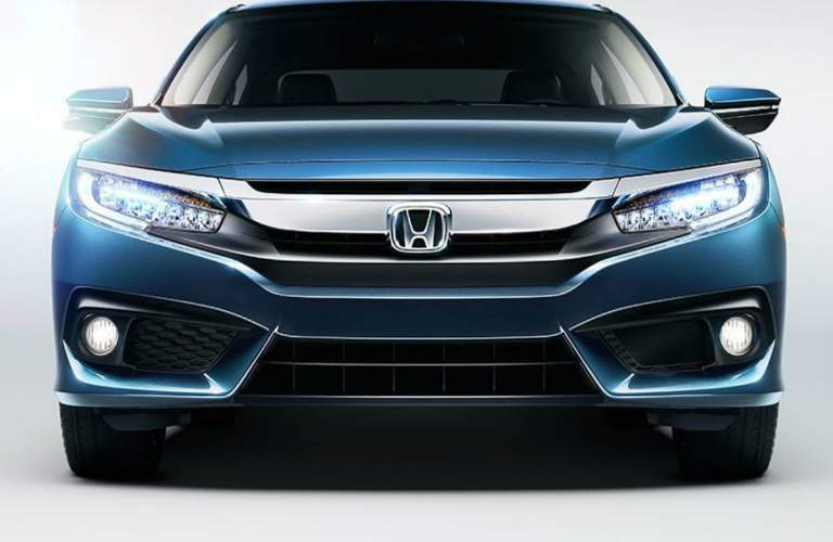 front view of a blue 2018 Honda Civic