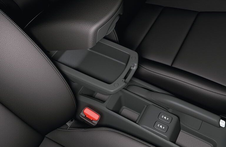 Center console in the 2018 Honda Fit