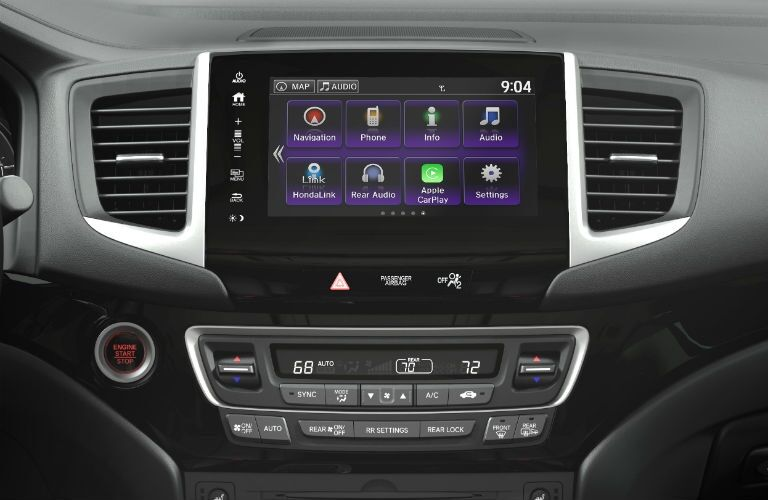 Infotainment system in the 2018 Honda Pilot