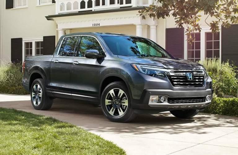 gray 2018 Honda Ridgeline parked in driveway
