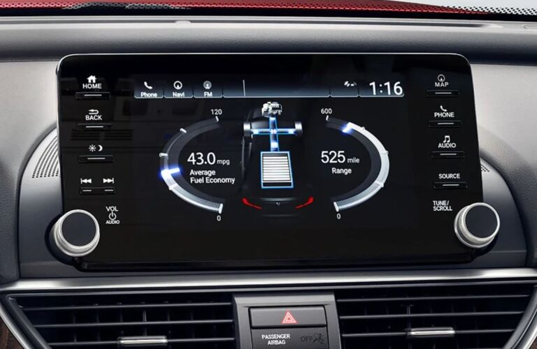 Infotainment system in the 2019 Honda Accord Hybrid