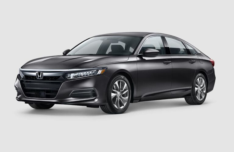 Black 2019 Honda Accord on a gray background