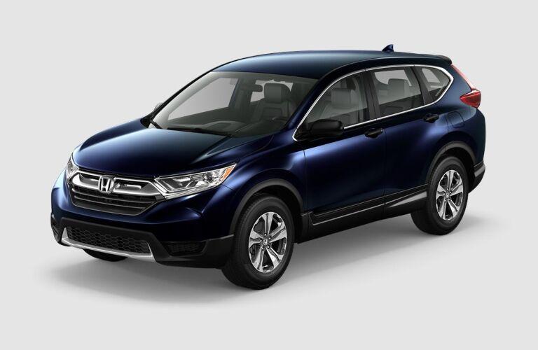 Blue 2019 Honda CR-V on a gray background
