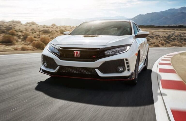 2019 Honda Civic Type R turning left