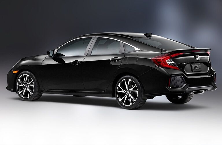 Side view of a black 2019 Honda Civic