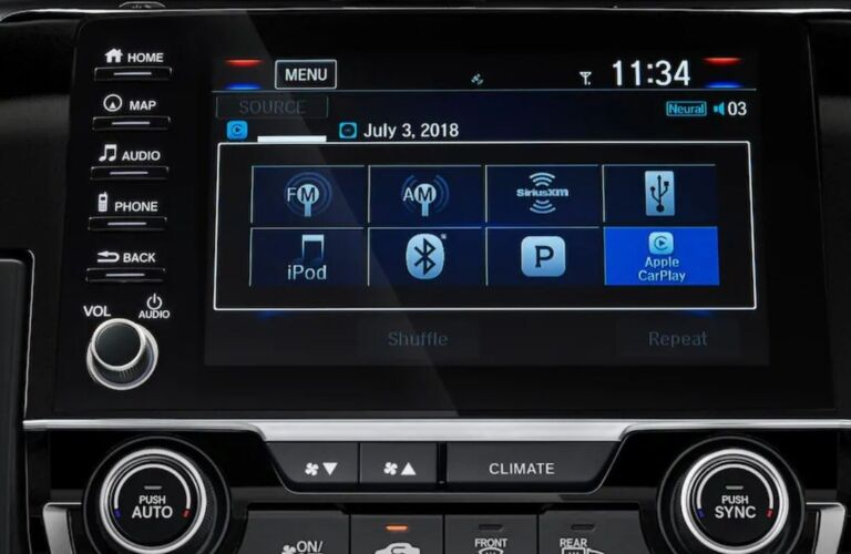 Infotainment system in the 2019 Honda Civic
