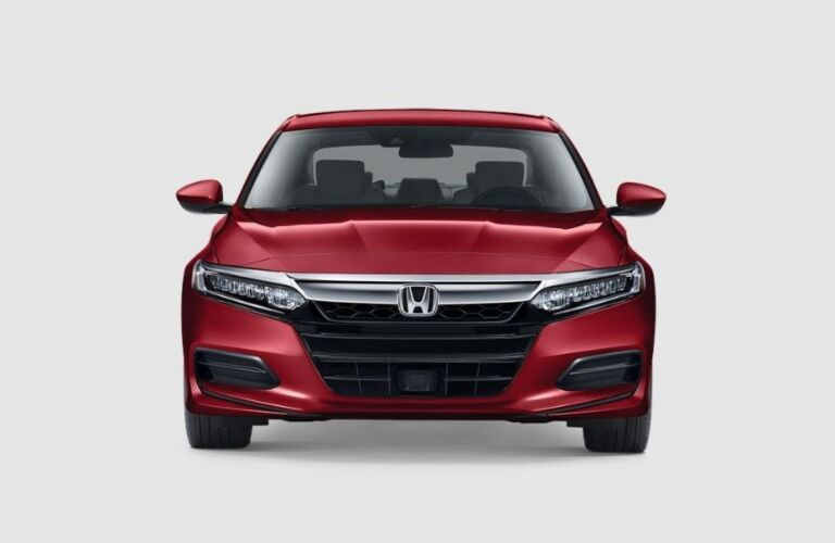 Front view of a red 2019 Honda Accord