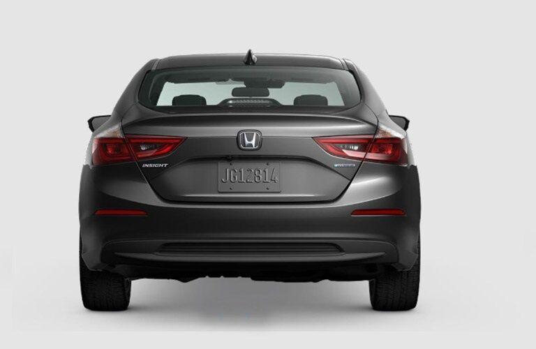 Rear view of a gray 2019 Honda Insight