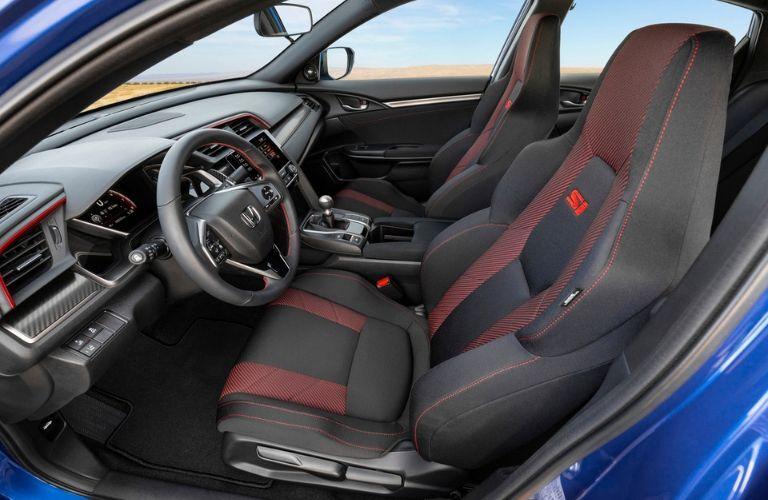 front seat view inside 2020 Honda Civic Si Sedan