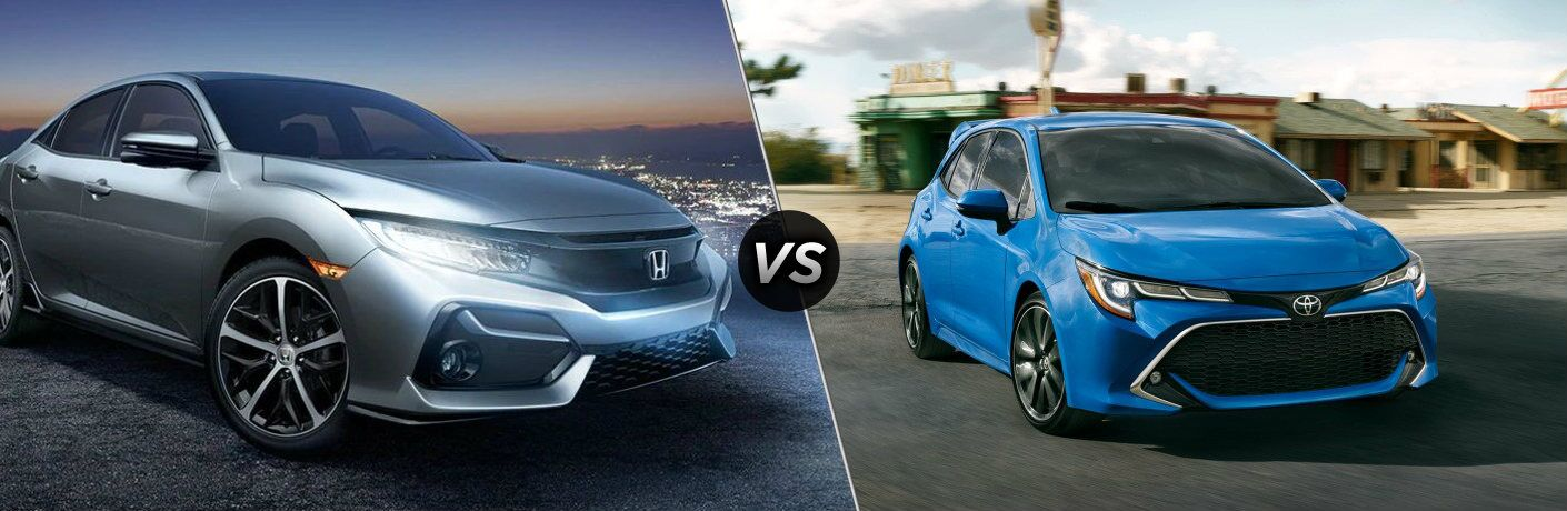 2020 Civic hatch vs 2020 Corolla hatch