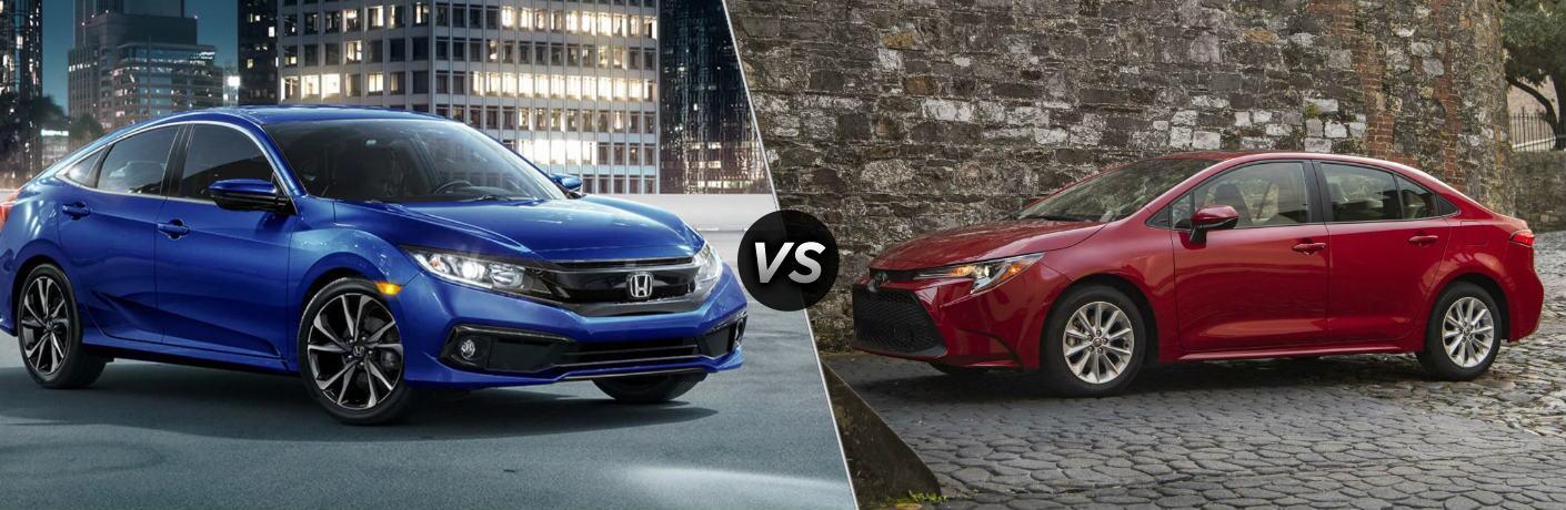 2020 Honda Civic vs 2020 Toyota Corolla