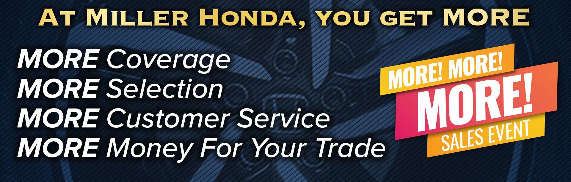 Why Buy From Miller Honda