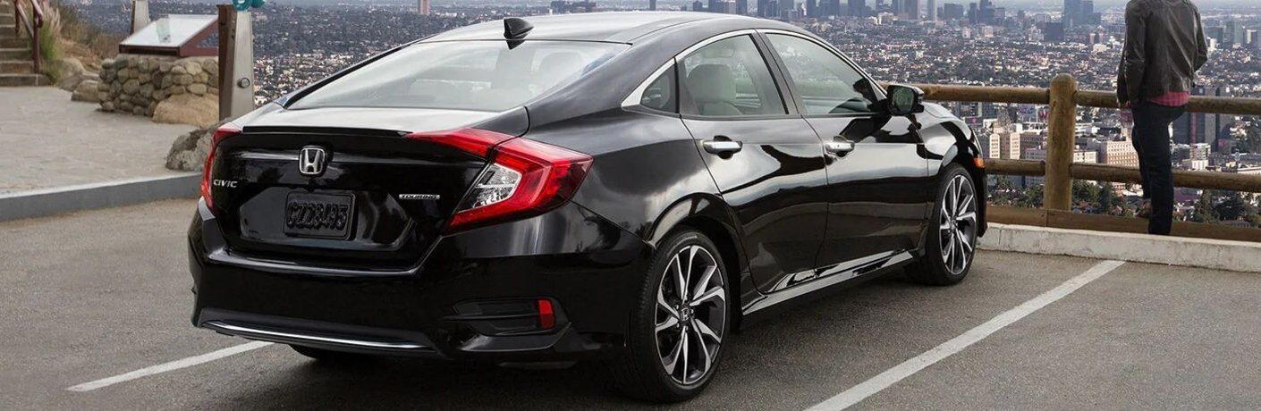 2020 Honda Civic Sedan parked on city overlook