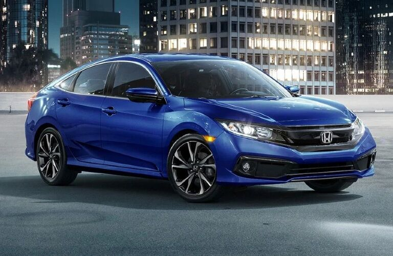 2021 Civic exterior front angled view