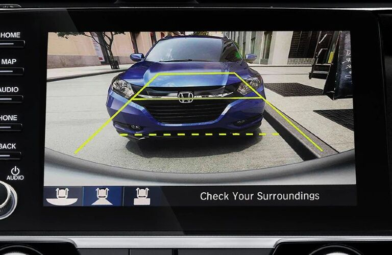 2021 Civic rearview camera display