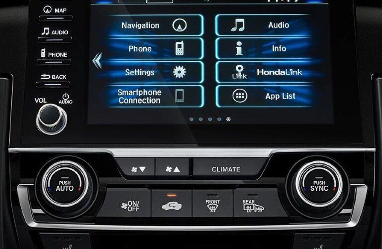 2020 Honda Civic infotainment system