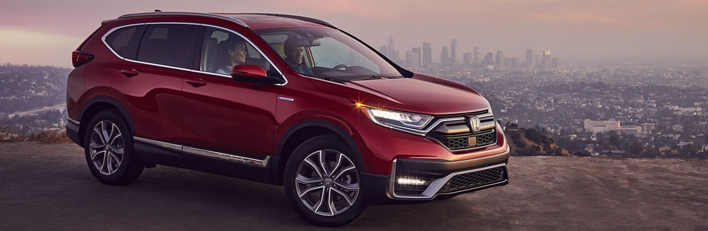 2020 CR-V Hybrid parked on city overlook