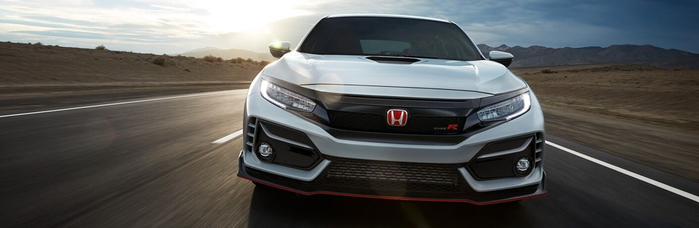 2020 Civic Type R driving towards camera