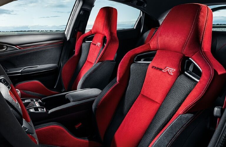 2020 Civic Type R front seating showcase