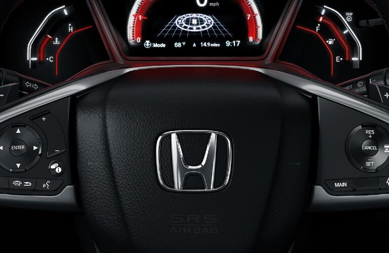 2020 Civic Hatch steering wheel and gauges showcase