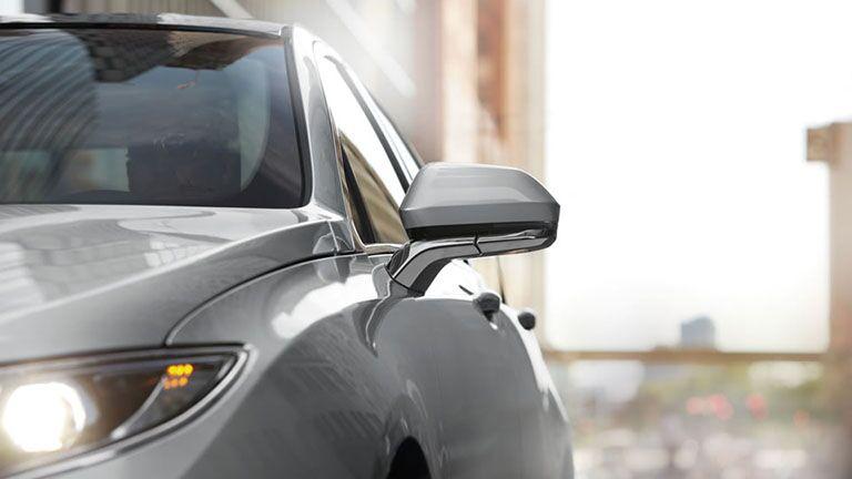 2016 lincoln mkz hybrid sedan luxury details side mirror chrome