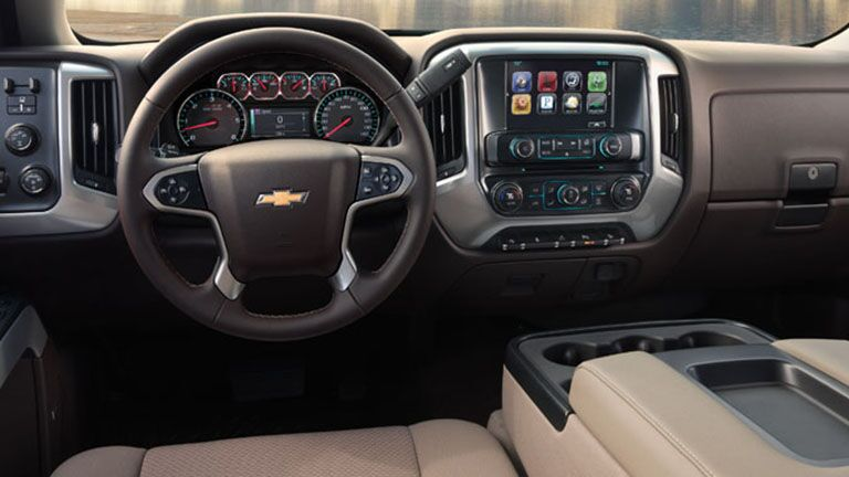 2016 Chevy Silverado Interior Touchscreen Display Leather Seats