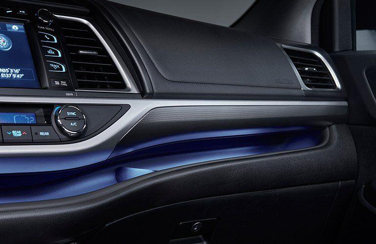 2017 toyota highlander interior dashboard ambient lighting