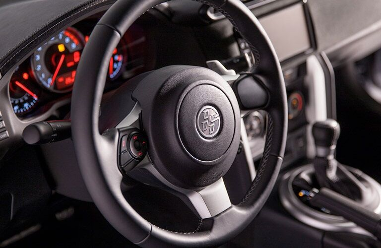 Sport steering wheel in the 2017 Toyota 86