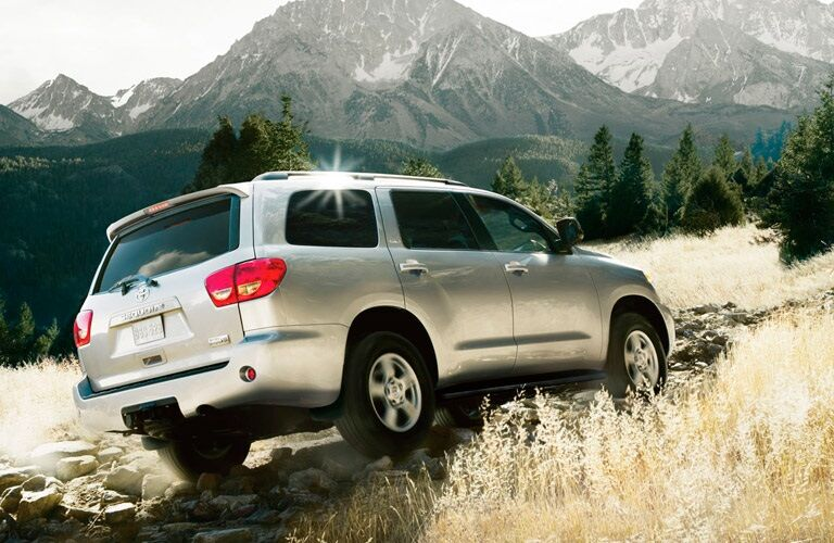 2017 Toyota Sequoia driving on rough terrain
