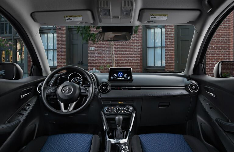 Steering wheel and dashboard of 2017 Toyota Yaris iA