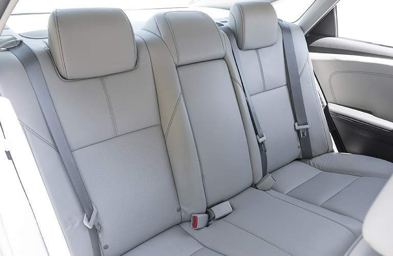 backseat of the 2017 Toyota Avalon Hybrid