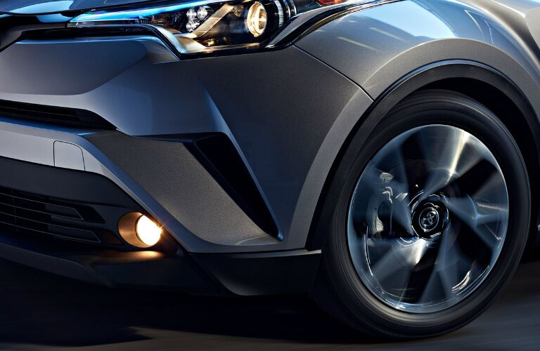 Front body styling on the 2018 Toyota C-HR